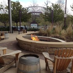 Fire pit and THOSE chairs!