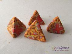 Polymer clay kaleidoscope humbug beads by Cate van Alphen