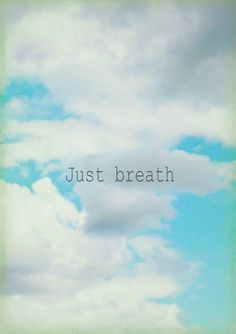 Items similar to breathe - Photo Motivational Nature Photography White Clouds Blue Sky Rain Clouds Yoga Meditation on Etsy English Frases, Just Breathe, Learning To Be, Positive Attitude, Inspire Me, Wise Words, Decir No, Favorite Quotes, Quotations