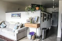 This is a great example of creating a bedroom nook/room within an open plan space without losing too much natural light. Love it! #small #home Amanda's Pacific Northwest Studio