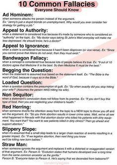 10 Common Fallacies