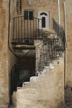 Twisted stairs in Jerusalem Old City