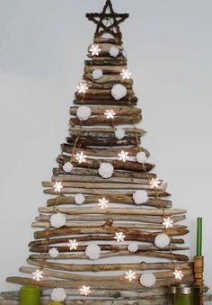 crafts made from tree branches | Christmas Tree Made From Tree Branches Pictures, Photos, and Images ...