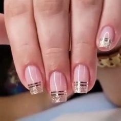 Elegant Look Bridal Nail Art Ideas You'll Love Bridal Nails . Elegant Look Bridal Nail Art Ideas You'll Love Bridal Nails . Cute Nails, Pretty Nails, My Nails, Fingernails Painted, Hair And Nails, Bridal Nail Art, Nail Polish, Minimalist Nails, French Tip Nails