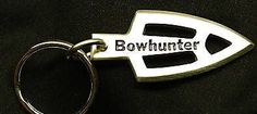 Pewter Bowhunter Broadhead Archery Keychain by OnTargetJewelry
