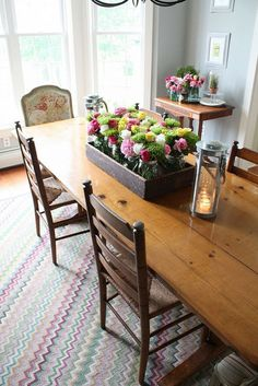 Gorgeous {Dining Room Makeover} -- Check out those {French Country} chairs!