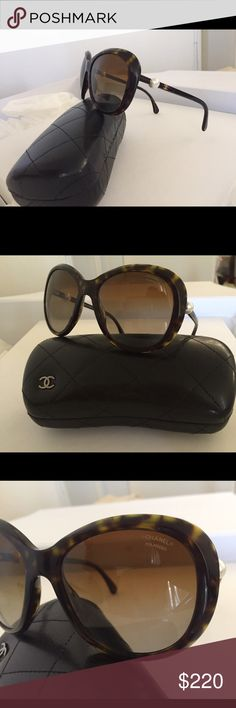 Chanel Sunglasses with pearls AUTHENTIC Brand new without tags, special edition, perfect condition, no flaw CHANEL Accessories Sunglasses