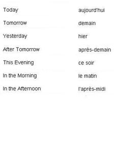 http://wanelo.com/... - French Words for Times of Day - Learn French #Learn #spanish here:  http://espanishlessons.com/  #beginnersspanish #spanishlessons  #bestspanishcourse