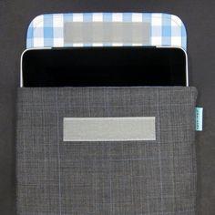 iPad Case - Grey Plaid