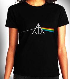 Dark side of Hallows Harry Potter Women Black Shirt by CahyaAbadi,