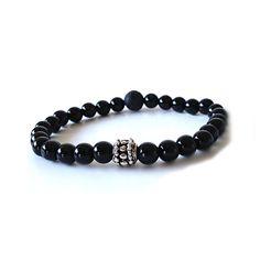 Men's Bracelet - Black Onyx Bracelet, Gift for him, Beaded Men's Bracelet