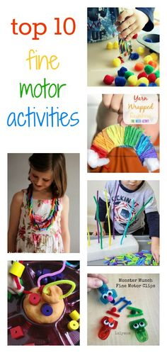 fine motor skills: These ideas are great for encouraging children to build strong, flexible and nimble fingers. They're all fun to try, and use simple materials you'll have around the home.