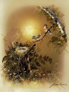 Dyskusja na liveinternet - Rosyjski serwis internetowy Diaries Bird Pictures, Pictures To Paint, Decoupage Printables, Image Nature, Photo D Art, Poster Prints, Art Prints, Decoupage Paper, Bird Art