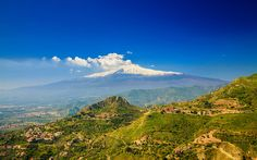 Download wallpapers Mount Etna, 4k, summer, stratovolcano, Sicily, Italy