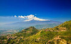 Scarica sfondi Etna, 4k, estate, vulcano, Sicilia, Italia