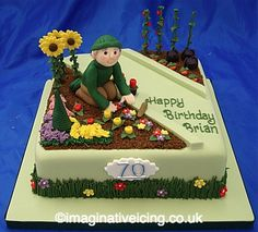 Gärtner's birthday cake «Imaginative icing Gardener Birthday Cake « Imaginative Icing 99 Source by c Birthday Cakes For Men, Special Birthday Cakes, Themed Birthday Cakes, Themed Cakes, 70 Birthday, Garden Theme Cake, Garden Birthday Cake, Gardner Cake, Vegetable Garden Cake