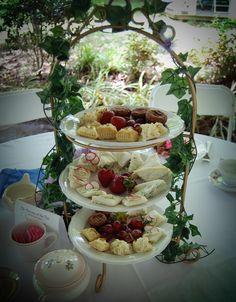 Victorian tea party Tablescape Centerpiece www.tablescapesbydesign.com https://www.facebook.com/pages/Tablescapes-By-Design/129811416695