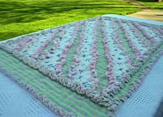 Baby Girl Rag Quilt With Bouncing Babies by LADzigns on Etsy, $50.00