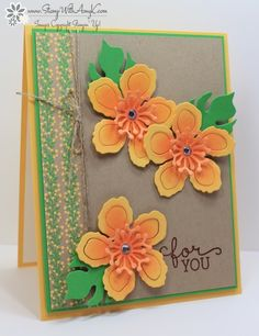 Stampin' Up! Birthday Blooms with Botanical Builder Framelits – Stamp With Amy K Potpourri, Stamping Up Cards, Some Cards, Scrapbook Cards, Scrapbooking, Flower Cards, Homemade Cards, Making Ideas, I Card