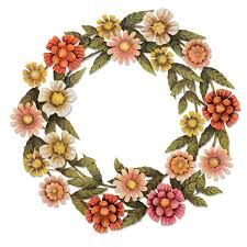 Image result for how to decorate metal wreaths