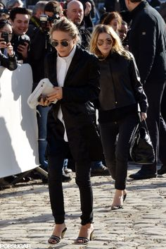 Mary-Kate and Ashley at the Louis Vuitton Show