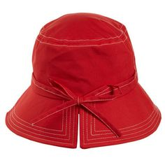 totes Women's Red Rain Hat with Back Tie - Headwear - Rainwear - totes - Categories