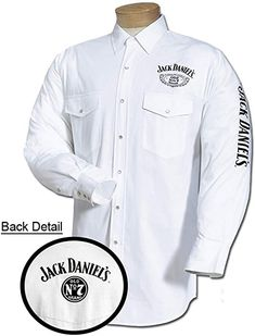 Shop for Jack Daniel's Embroidered Long Sleeve White Mens Button Down Western Shirt. Get free delivery On EVERYTHING* Overstock - Your Online Men's Clothing Store! Mens Clothing Sale, Discount Clothing, Men's Clothing, Casual Button Down Shirts, Button Up Shirts, Jack Daniels Shirt, Mens Measurements, Rodeo Outfits, Cowboys Shirt
