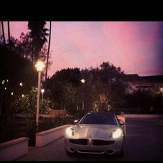 #Fisker Karma at sunset -  Beverly Hills , CA
