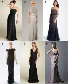 Black Tie Dresses for a Wedding