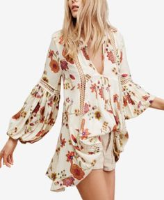 Free People Just The Two Of Us Printed Shift Dress | macys.com