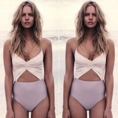 HOT Sexy High Waisted Cut-Out Women's One Piece Bathing Suit M-XL