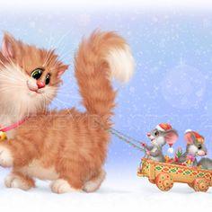 Cat Cupcakes, Cat Art, Illustrators, Fairy Tales, Cartoon, Bird, My Favorite Things, Gallery, Cats
