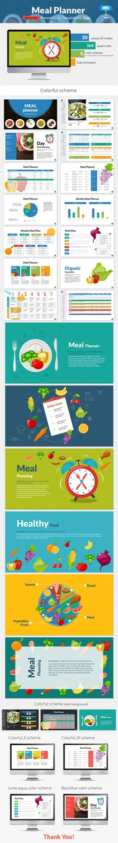 Buy Meal Planner Keynote Presentation Template by SanaNik on GraphicRiver. PowerPoint Version is Available Meal Planner Keynote Presentation Template Need to create a meal plan? Presentation Slides, Presentation Templates, Graphisches Design, Meal Planner, Keynote Template, Light In The Dark, Color Schemes, Nutrition, Meals