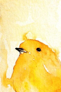 Love this little yellow bird by Maria Kitano