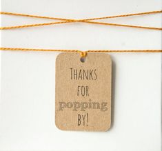 Thanks for Popping by Favor Tag Popcorn by TwistedTreeOccasions