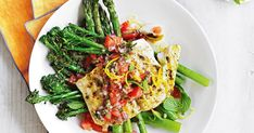 For an excellent source of protein and fibre try this lemon-pepper fish served with seasonal, chargrilled greens.