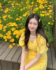 Digital Portrait, Portrait Art, Justin Huang, Uzzlang Girl, Ulzzang, Cute Girls, Wrap Dress, Short Sleeve Dresses, Outfits