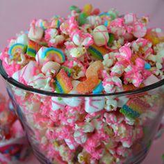 Party mix snacks - Poppy's Pink Trolls Party Snack Mix – Party mix snacks Birthday Party Drinks, Birthday Party Treats, Trolls Birthday Party, Monster Birthday Parties, Troll Party, Unicorn Birthday Parties, 2nd Birthday, Birthday Ideas, Moana Birthday