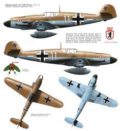 Messerschmitt Bf 109F-4/Trop 4./JG27 (W11+-) North Africa 1941