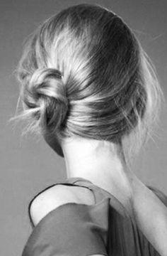 Nice Buns: The undone side bun is just the right look for an afternoon wedding or bridal shower, or even a ladies' lunch