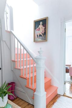 Ombre pink staircase