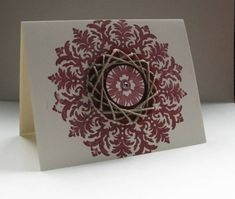 CAS147 Twine Spirelli Medallion by nancy littrell - Cards and Paper Crafts at Splitcoaststampers