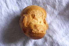 Choux Bun with a naturally formed heart - cute!