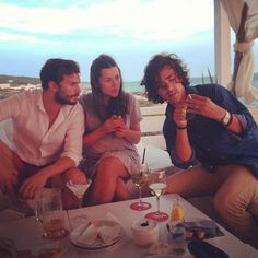 Amelia Warner and Jamie Dornan with jack Savoretti