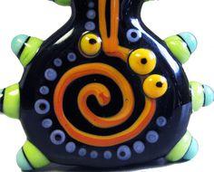 CurlycueHandmade Lampwork Focal by beadygirlbeads on Etsy, $30.00