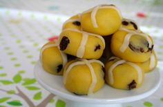 Marzipan hot cross b