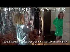 plastic fetish raincoat - YouTube