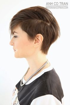 SHORT HAIR SATURDAY! Cut/Style: Anh Co Tran. Appointment inquiries please call Ramirez|Tran Salon in Beverly Hills: 310.724.8167