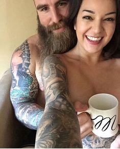 #Beard #Barba #Couple #Love #Tattoo #Men #Girl