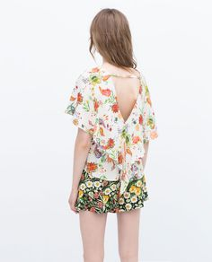 Image 6 of PRINTED TOP from Zara